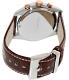 Kenneth Cole Men's Dress Sport KC8042 Brown Leather Quartz Watch - Back Image Swatch