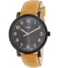 Timex Men's Originals T2N677 Black Leather Quartz Watch