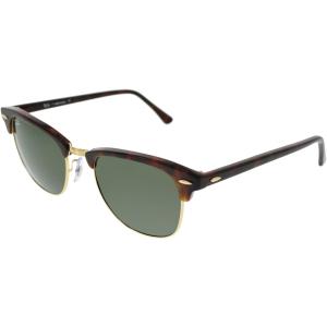 Ray-Ban Men's Clubmaster RB3016-W0366-51 Tortoiseshell Semi-Rimless Sunglasses