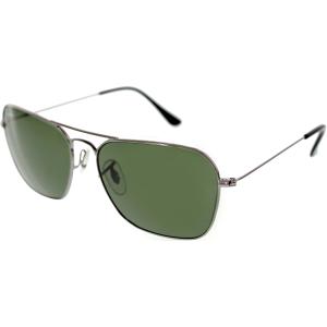 Ray-Ban Men's Caravan RB3136-004-58 Gunmetal Square Sunglasses