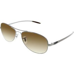 Ray-Ban Women's Aviator RB8301-004/51-56 Silver Aviator Sunglasses