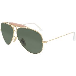 Ray-Ban Women's Shooter RB3138-001-58 Gold Aviator Sunglasses