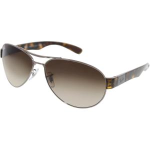 Ray-Ban Men's  RB3509-004/13-63 Silver Aviator Sunglasses