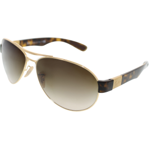Ray-Ban Men's  RB3509-001/13-63 Gold Aviator Sunglasses