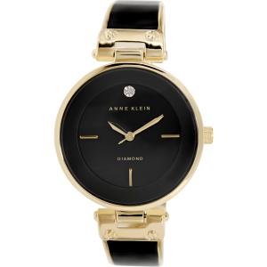 Anne Klein Women's AK-1414BKGB Black Stainless-Steel Quartz Watch