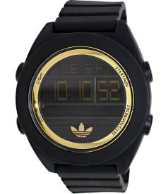 Adidas Men's Santiago ADH2911 Black Silicone Analog Quartz Watch