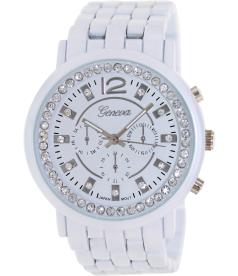 Geneva Platinum Women's 2851.WHITE White Metal Quartz Watch