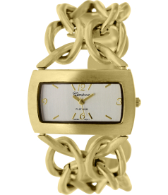 Geneva Platinum Women's 6244.GOLD Silver Metal Quartz Watch