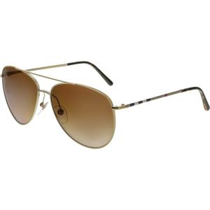 Burberry Men's Gradient  BE3072-114513-57 Silver Aviator Sunglasses