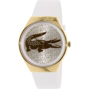 Lacoste Women's Valencia 2000807 White Silicone Analog Quartz Watch