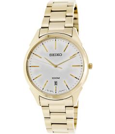 Seiko Men's Classic SGEG74 Silver Stainless-Steel Quartz Watch