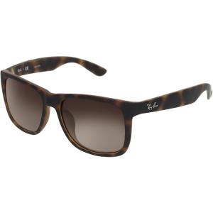 Ray-Ban Men's Gradient Justin RB4165F-856/13-55 Tortoiseshell Square Sunglasses