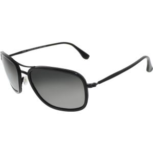 Maui Jim Men's Polarized Hawaiian Time GS252-02D Black Square Sunglasses