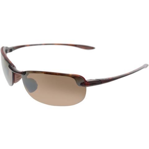 Maui Jim Women's Polarized Makaha H405-10 Brown Wrap Sunglasses
