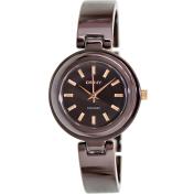 Dkny Women's NY8551 Brown Ceramic Analog Quartz Watch