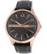 Armani Exchange Men's AX2129 Black Leather Quartz Watch - Main Image Swatch