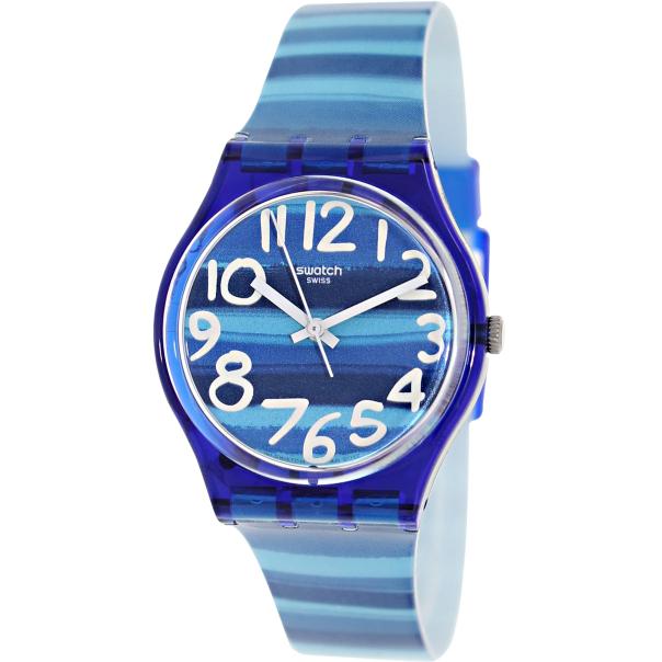 swatch s originals gn237 blue plastic swiss quartz