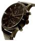 Hugo Boss Men's 1512567 Black Leather Analog Quartz Watch - Side Image Swatch