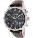 Hugo Boss Men's 1512570 Grey Leather Analog Quartz Watch - Main Image Swatch