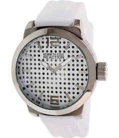 Kenneth Cole Reaction Men's RK1319 Silver Silicone Analog Quartz Watch