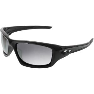 Oakley Men's Mirrored Valve OO9236-01 Black Wrap Sunglasses
