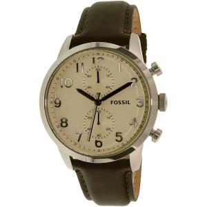 Fossil Men's Townsman FS4872 Brown Leather Quartz Watch