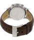 Fossil Men's Townsman FS4873 Brown Leather Quartz Watch - Back Image Swatch