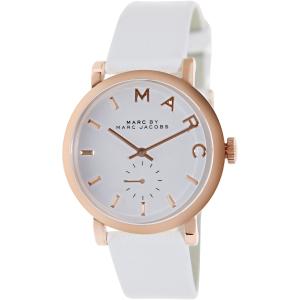 Marc by Marc Jacobs Women's MBM1283 White Leather Swiss Quartz Watch