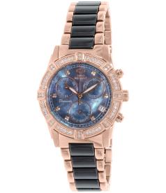 Swiss Precimax Women's Desire Elite Ceramic Diamond SP13303 Mother-Of-Pearl Ceramic Swiss Quartz Watch