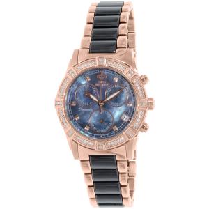 Swiss Precimax Women's Desire Elite Ceramic Diamond SP13303 Rose Gold Ceramic Swiss Quartz Watch