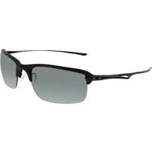 Oakley Men's Polarized Wiretap OO4071-05 Black Semi-Rimless Sunglasses