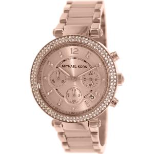 Michael Kors Women's Parker MK5896 Rose-Gold Stainless-Steel Quartz Watch