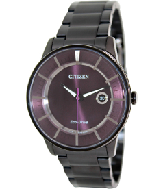 Citizen Men's Eco-Drive AW1264-59W Black Stainless-Steel Eco-Drive Watch