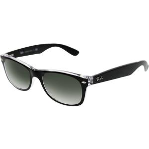 Ray-Ban Men's New Wayfarer RB2132-6052-52 Black Wayfarer Sunglasses