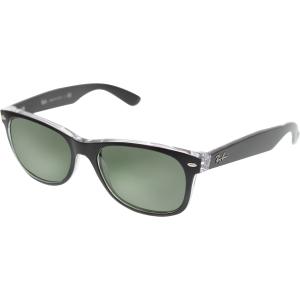 Ray-Ban Men's New Wayfarer RB2132-6052-55 Black Wayfarer Sunglasses