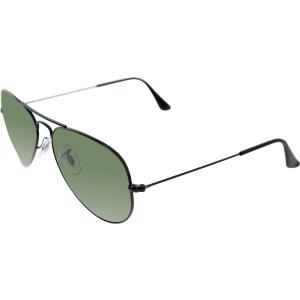 Ray-Ban Men's Polarized Aviator RB3025-002/58-55 Black Aviator Sunglasses