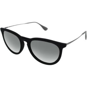 Ray-Ban Women's Erika RB4171-6075/6G-54 Black Round Sunglasses