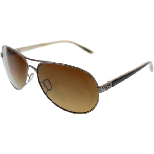 e19a5addfc1 ... Polished Chocolate Frame Polarized Brown UPC 700285863269 product image  for Oakley Men s Polarized Feedback OO4079-06 Gunmetal Aviator Sunglasses