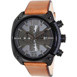 Diesel Men's Overflow DZ4317 Bronze Leather Quartz Watch