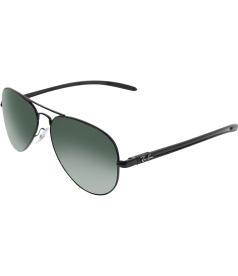 Ray-Ban Men's Polarized Aviator RB8307-002/N5-58 Black Aviator Sunglasses