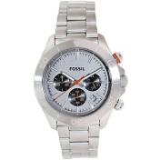 Fossil Men's Retro Traveller CH2901 Silver Stainless-Steel Quartz Watch