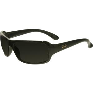 Ray-Ban Men's Polarized Highstreet RB4075-601/58-61 Black Rectangle Sunglasses