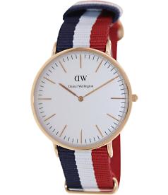 Daniel Wellington Men's Cambridge 0103DW White Nylon Quartz Watch