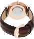 Daniel Wellington Men's Bristol 0109DW Brown Leather Quartz Watch - Back Image Swatch