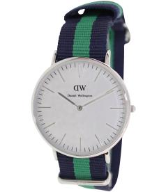Daniel Wellington Men's Warwick 0205DW White Nylon Quartz Watch