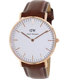 Daniel Wellington Women's Classic St. Andrews 0507DW Brown Leather Quartz Watch