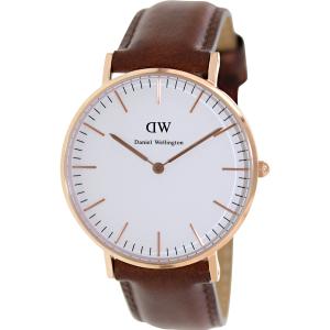 Daniel Wellington Women's Classic St. Mawes 0507DW Brown Leather Quartz Watch