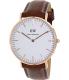 Daniel Wellington Women's Classic St. Mawes 0507DW Brown Leather Quartz Watch - Main Image Swatch