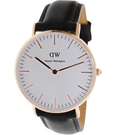 Daniel Wellington Women's Sheffield 0508DW White Leather Quartz Watch