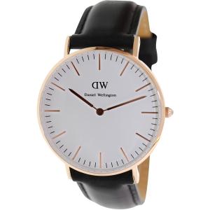 Daniel Wellington Women's Sheffield 0508DW Black Leather Quartz Watch